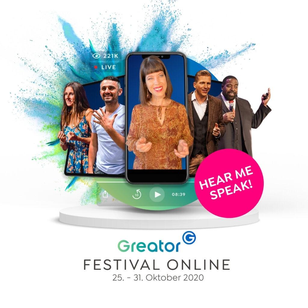 FESTIVAL – ONLINE<br>@ Greator (Gedankentanken)
